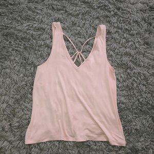 light pink tank top